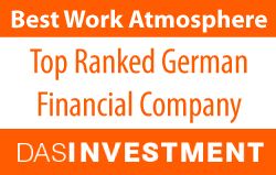 Grüner Fisher Investments was awarded the best work atmosphere in the German financial industry.
